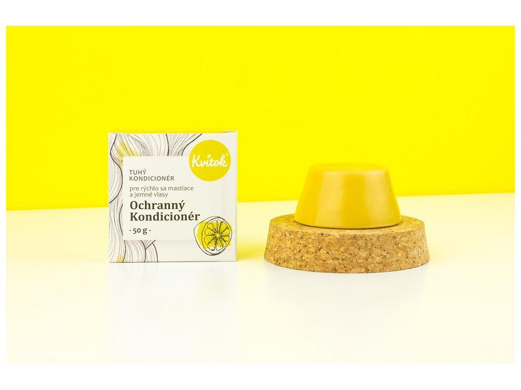 Kvitok Přírodní tuhý kondicionér pro mastné vlasy (varianta 20g)