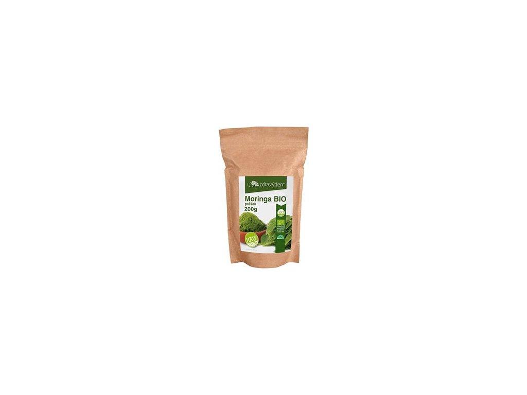 Zdravý den Moringa Bio Raw prášek (varianta 100g)